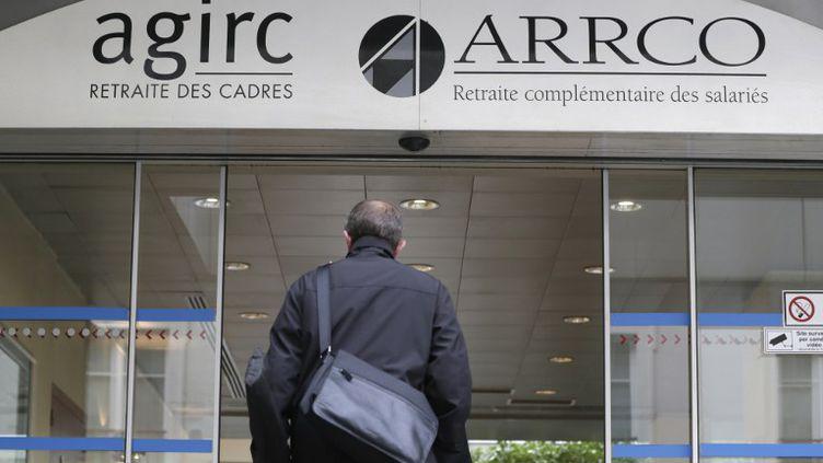 Le siège social des organismes de retraite complémentaire Agirc et Arrco, le 16 octobre 2012 à Paris. (KENZO TRIBOUILLARD / AFP)