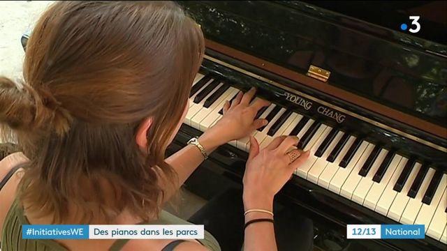 Reims : des pianos en libre-service installés dans les parcs de la ville