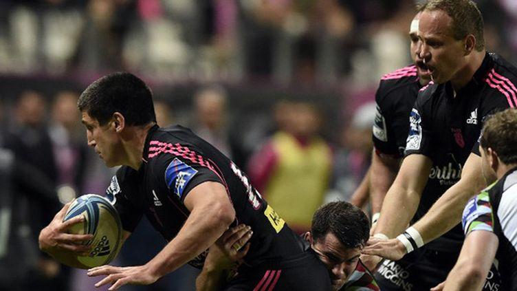 Geoffrey Doumayrou et le Stade Français n'ont rien pu faire face à Danny Care et les Harlequins (FRANCK FIFE / AFP)