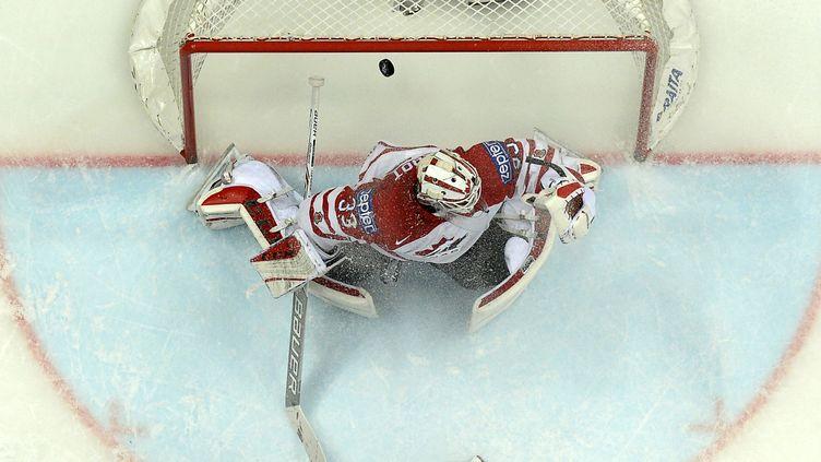 Le gardien de l'équipe du Canada Cam Talbot (YURI KADOBNOV / AFP)