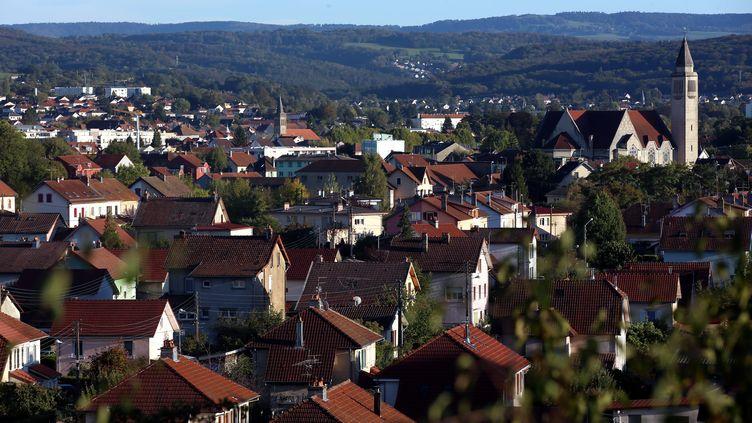 Une vue sur la ville d'Audincourt(Doubs) le 11 octobre 2019. (MAXPPP)