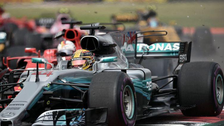 Lewis Hamilton sacré pour la 4e fois (YURI CORTEZ / AFP)