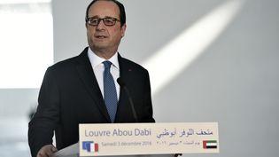 François Hollande, àAbou Dhabi, le 3 décembre 2016. (STEPHANE DE SAKUTIN / AFP)