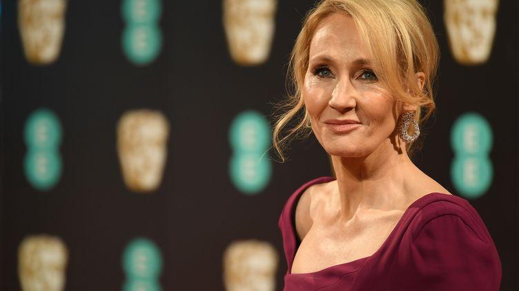 L'écrivaine J.K. Rowling, le 12 février 2017 au Royal Albert Hall de Londres à l'occasion de la cérémonie des Bafta. (JUSTIN TALLIS / AFP)