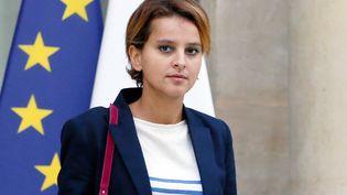 La porte-parole du gouvernement, Najat Vallaud-Belkacem quitte l'Elysée, le 11 septembre 2013. (PATRICK KOVARIK / AFP)