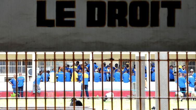 Des détenus dans la prison centrale de Makala dans la capitale Kinshasa. (JUNIOR D. KANNAH / AFP)