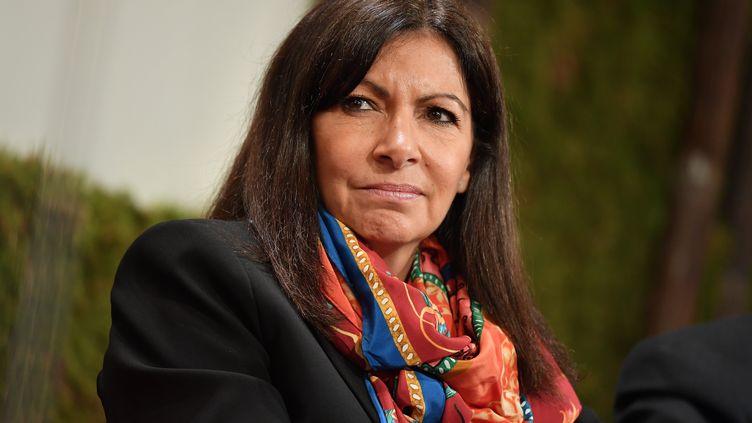 La maire de Paris, Anne Hidalgo, le 29 mars 2017 à Paris. (PHILIP ROCK / ANADOLU AGENCY / AFP)