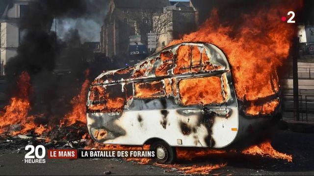 La Mans : la bataille des forains avec les forces de l'ordre