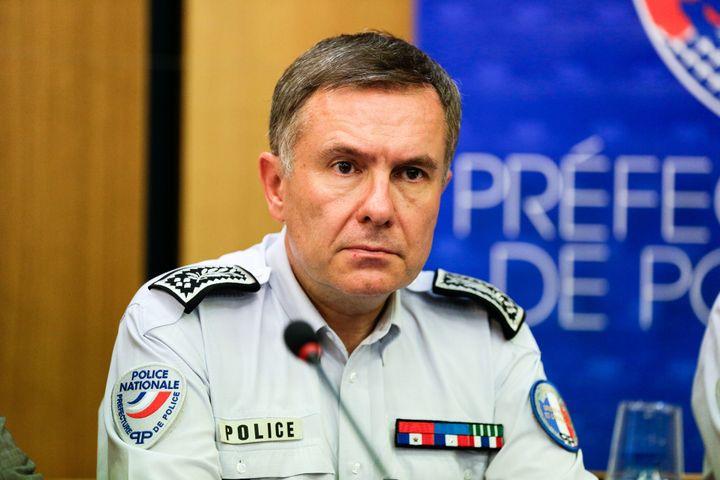 Alain Gibelin, directeur de l'oprdre public et de la circulation à la préfecture de police de Paris, le 21 juin 2017, lors d'une conférence de presse. (MAXPPP)