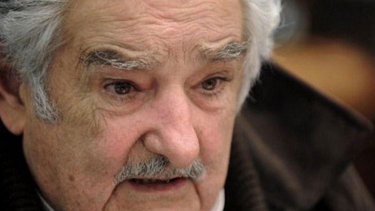 Jose Mujica à Montévidéo, la capitale uruguayenne, le 5 septembre 2012. (AFP PHOTO/MIGUEL ROJO)