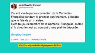 Violences sexuelles : des témoignages accablent le monde du théâtre (FRANCEINFO)