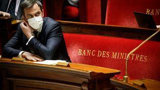 Le ministre de la Santé, Olivier Véran, le 8 avril 2021, à l'Assemblée nationale. (MAXPPP)