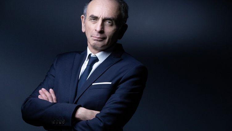 Le polémiste Eric Zemmour à Paris, le 22 avril 2021. (JOEL SAGET / AFP)