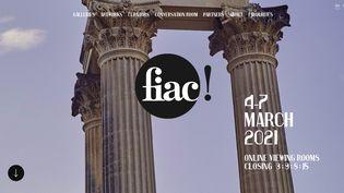 Capture d'écran de la plateforme de la Fiac fiac.viewingrooms.com (CAPTURE D'ÉCRAN)
