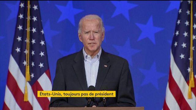 Joe Biden appelle ses partisans au calme pendant le dépouillement