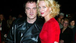 Le réalisateur Quentin Tarantino et l'actrice Uma Thurman lors de la sortie de Kill Bill 1, en octobre 2003. (MAXPPP / DPA-ZENTRALBILD)