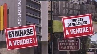 Stains, une commune de Seine-Saint-Denis, a organisé une vente aux enchères symbolique pour dénoncer la baisse du budget des collectivités locales. (FRANCE 3)