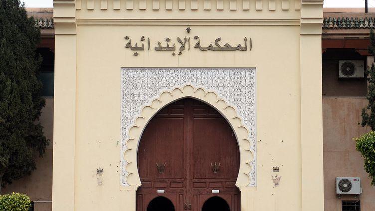 Tribunal de Marrakech où une jeune fille vient d'être condamnée à 3 ans et demi de prison pour des posts sur les réseaux sociaux. (FADEL SENNA / AFP)