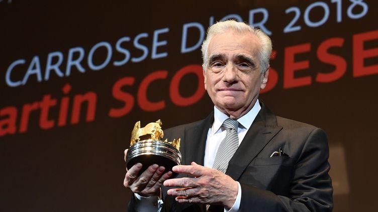 Martin Scorsese reçoit le Carrosse d'or le 9 mai à la Quinzaine des Réalisateurs.  (YANN COATSALIOU / AFP)
