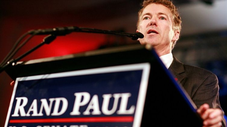 Une des figures du Tea Party, Rand Paul, élu sénateur du Kentucky (Tom Pennington - Getty Images - AFP)