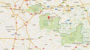 L'accident est survenu dans une ferme de Pont-sur-Sambre, près de Maubeuge (Nord), le 8 mars 2016. (GOOGLE MAPS)