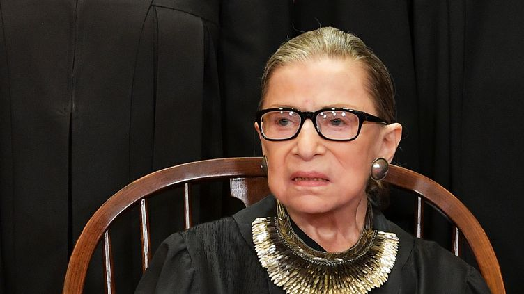 La juge de la Cour suprême Ruth Bader Ginsburg, le 30 novembre 2018 à Washington. (MANDEL NGAN / AFP)
