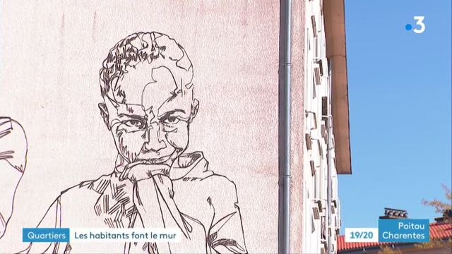 Fresques monumentales habitants Poitiers