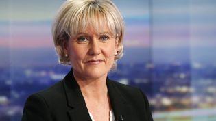 Nadine Morano, le 8 octobre 2015 sur le plateau du JT de 20 heures de TF1. (THOMAS SAMSON / AFP)