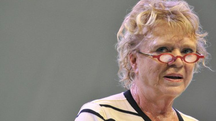 Eva Joly, lance sa campagne le 20 août 2011 à Clermont Ferrand. (AFP - Thierry Zoccolan)