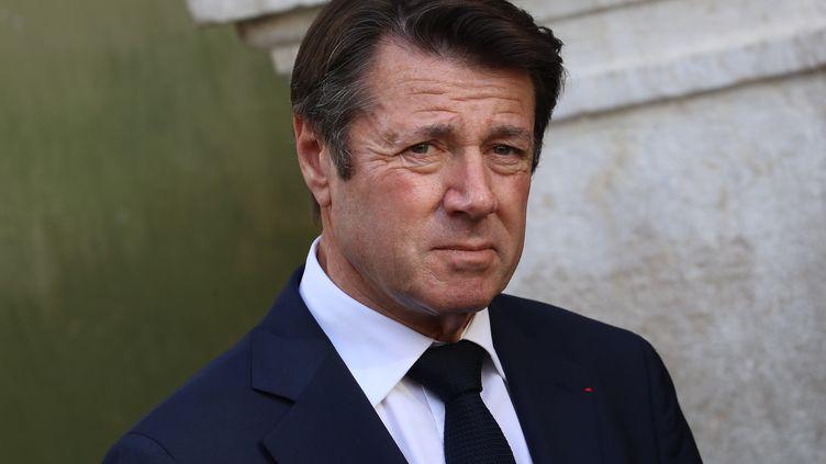 Christian Estrosi, maire de Nice, à la cathédraleSainte-Reparate de Nice (Alpes-Maritimes), le 7 novembre 2018. (VALERY HACHE / AFP)