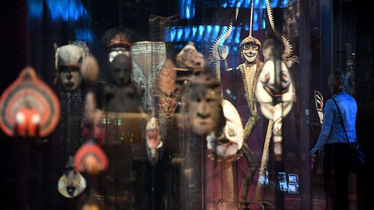 La collection Océanie du musée du Quai Branly Jacques-Chirac, en juin 2020 à Paris.  (FRANCK FIFE / AFP)