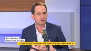 Patrice Bessac,maire communiste de Montreuil, invité de franceinfo le 31 octobre 2019. (FRANCEINFO / RADIOFRANCE)