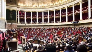 Lors de la séance de questions au gouvernement à l'Assemblée nationale, le 14 mars 2018. (VINCENT ISORE / MAXPPP)