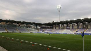 LeSzusza Ferenc Stadium, à Budapest, le 24 mars 2021. (ISTVAN HUSZTI / AFP)