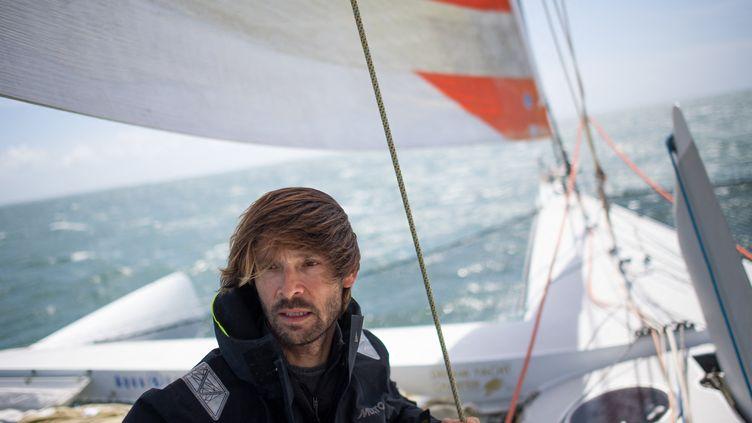 Le navigateur Romain Pilliard. (LOIC VENANCE / AFP)