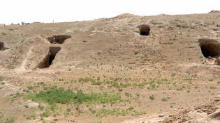 Le site archéologique du site de Tell Ajaja, située à cinquante kilomètres de la frontière irakienne, le 3 août 2016  (Ayham al-Mohammad / AFP)