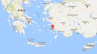 Un séisme en mer Egée a touché les îles grecques et la côte turque dont notamment la station balnéaire de Bodrum. (CAPTURE ECRAN GOOGLE MAPS)