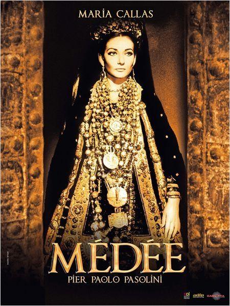 """L'affiche de """"Médée"""" de Pier Paolo Pasolini : Maria Callas  (Carlotta Films)"""