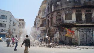 Les combats les plus durs se concentrent à Aden (Yémen). (WAIL SHAIF THABET / ANADOLU AGENCY / AFP)