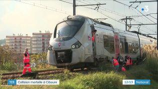 A proximité de la gare de Ciboure (Pyrénées-Atlantiques), quatre personnes ont été percutées par un trainmardi 12 octobre. Trois sont mortes sur le coup, et la quatrième, grièvement blessée, a étéhospitalisée.  (Capture d'écran France 3)