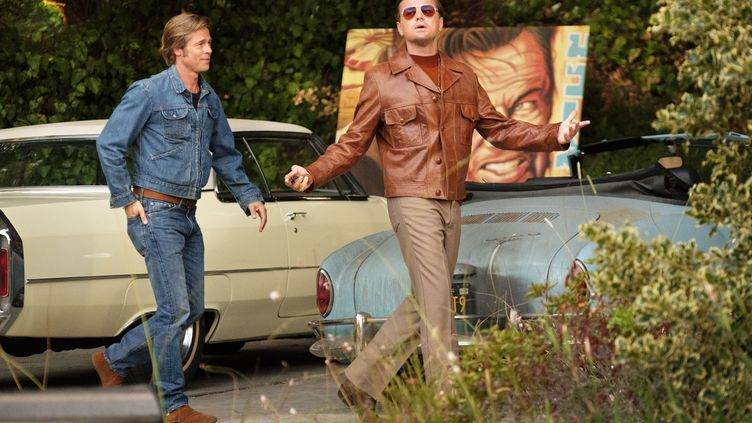 Leonardo DiCaprio et Brad Pitt dans Once Upon a Time in Hollywood, réalisé par Quentin Tarentino. (ANDREW COOPER/SONY PICTURES)