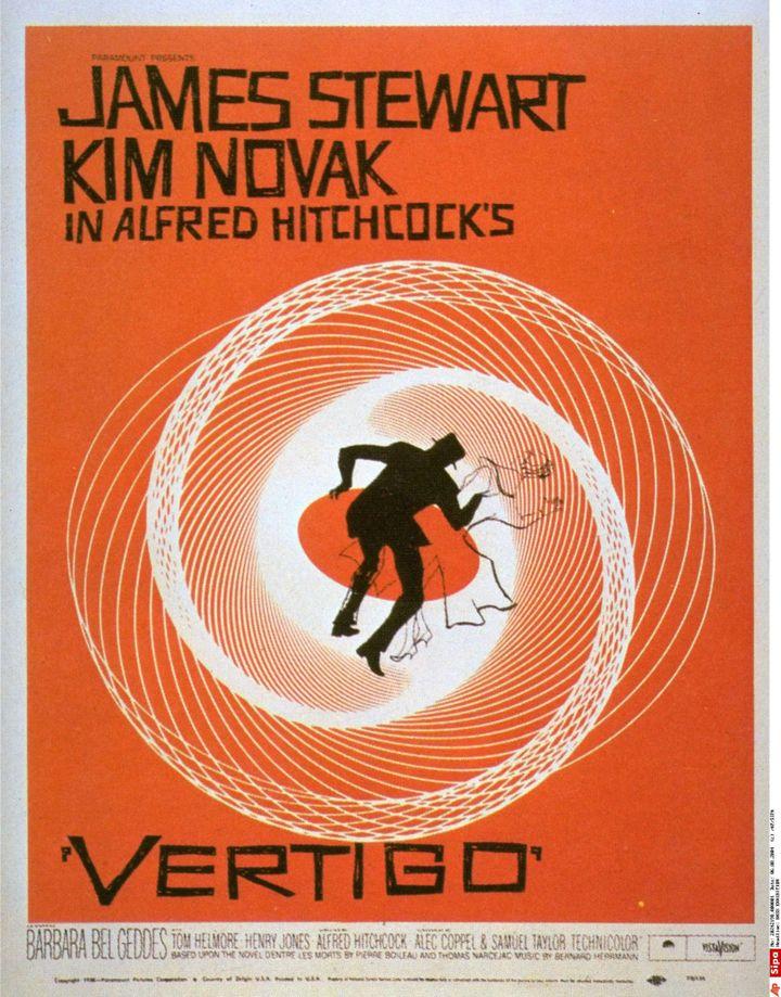 """L'affiche de """"Vertigo"""" d'Alfred Hitchcock par Saul Bass  (Saul Bass/AP/SIPA)"""