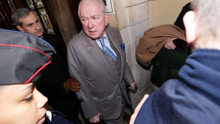 Jean-Paul Guerlain au tribunal correctionnel de Paris le 9 février 2012. (LEJEUNE / LE PARISIEN  / MAXPPP)