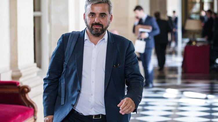 Le député de Seine-Saint-Denis Alexis Corbière dans les couloirs de l'Assemblée nationale, le 6 juin 2018. (AURELIEN MORISSARD / MAXPPP)