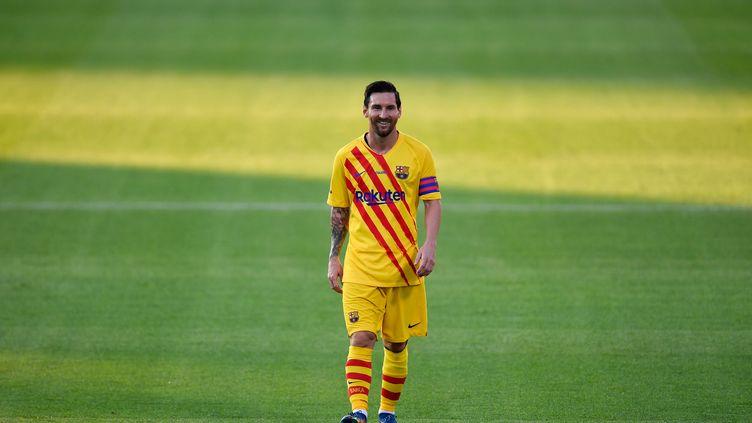 Lionel Messi de retour sous les couleurs de Barcelone (PAU BARRENA / AFP)