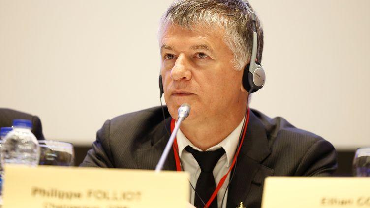 Le député Philippe Folliot, le 12 avril 2019 àAntalya (Turquie). (MUSTAFA CIFTCI / ANADOLU AGENCY / AFP)
