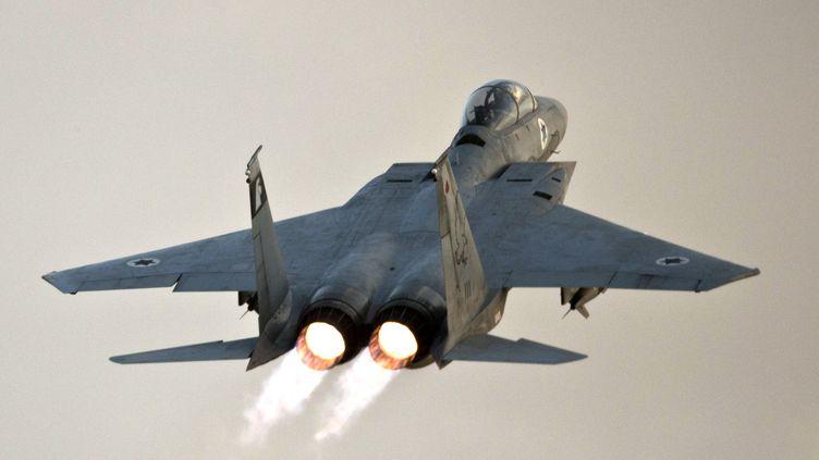 Un F-15 israélien, le 19 novembre 2012, lors des bombardements sur Gaza. (JACK GUEZ / AFP)