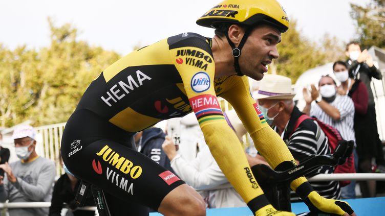 Tom Dumoulin lors du Tour de France le 19 juillet dernier (MARCO BERTORELLO / POOL)