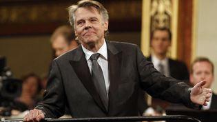Le chef d'orchestre letton Mariss Jansons au concert du Nouvel An 2012 à la Philharmonique de Vienne. (RONALD ZAK/AP/SIPA / AP)