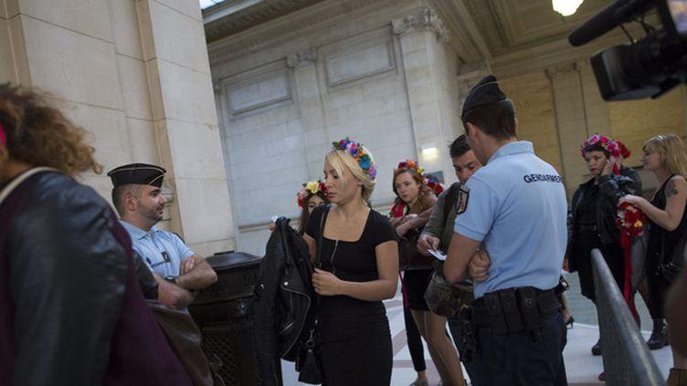 (Les Femen avaient déjà obtenu la relaxe lors d'un premier procès, ici, en septembre 2014 © maxPPP)